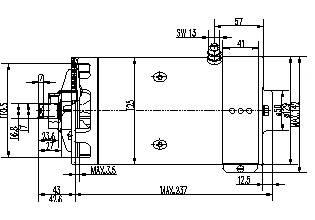 Gleichstrommotor Mahle MM292 IM0385 für HYDROVEN, 3.0kW 24V