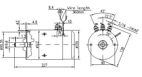 Gleichstrommotor Mahle MM5 IM0402 für BOSCH, 2.0kW 24V