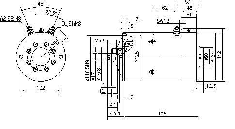 Gleichstrommotor Iskra Letrika IM0009 HYDR-APP, 3.0 kW 24V